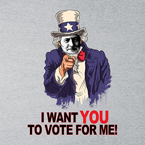 Jeremy Corbyn I Want You To Vote For Me Uncle Sam Women's Vest Heather Grey