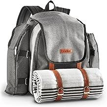 VonShef Mochila con mantel de picnic para 4 personas