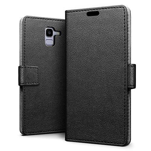 SLEO Funda Samsung Galaxy J6 2018 Carcasa Libro Cuero