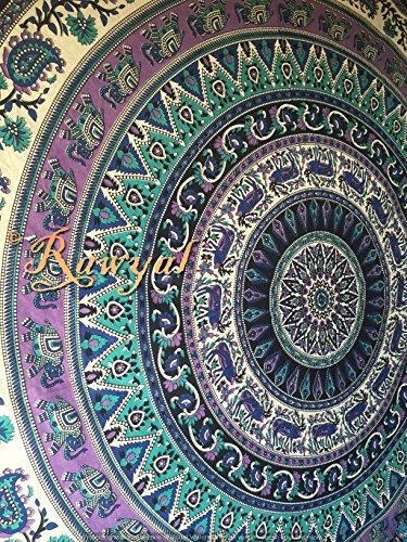 Rawyal Mandala Wandbehang, Hippie, Böhmische Tagesdecke (Batik Gobelin Tischdecke)