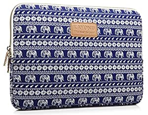 Kayond Retro Style Canvas Fabric 10 Inch for Laptop / Notebook Computer / Macbook Air / Macbook Pro Sleeve Case Bag Cover (10 inches, Elephant)