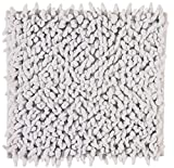 Badteppich Hellgrau ZIZA Aquaonva Langfloorteppich 60x60, 60x100, 70x120, Größe:60x60