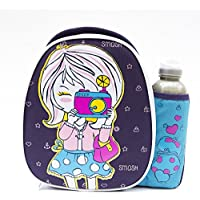Smash Paparazzi Insulated Lunch Bag and 500ml Bottle -Puprle