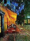 Migneco & Smith l'Affiche ILLUSTREE Van Gogh Terrazza del caffè Stampa Artistica in Offset su Carta patinata di Spessore gr.300 (60X80)