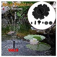 Zolimx- Home & Kitchen Outdoor Solar Powered Water Floating Pump Fountain Garden Pond Fountain Set 1.4W Solar Panel Kit Water Fountain Pump For Pool, Garden, Aquarium (Black)