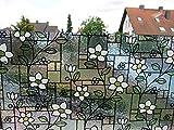 Fensterfolie Blumen GLS 4657 - 80 x 46 cm - statische Dekorfolie Buntglasfolie
