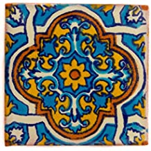 Azulejos Mexicanos Artesanales de Talavera de 10.5cm - Azulejo individual