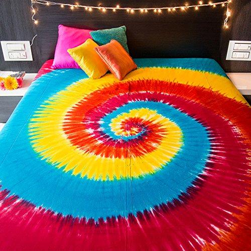 College-wohnheim-poster (Spiral Tie Dye Wandteppich für Bohemian Hippie Mandala Tagesdecke indischen Betten für Schlafzimmer College Wohnheim Zimmer Home Decor oder Strand Picknickdecke–Queen Size Rainbow Boho Gypsy verteilt)
