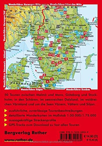 Schweden Süd: Von Skåne und Småland über Stockholm bis Dalarna. 50 Touren. Mit GPS-Tracks. (Rother Wanderführer): Alle Infos bei Amazon