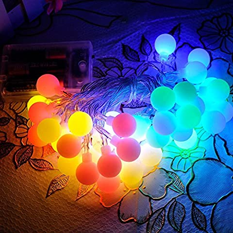 TEQIN 40LED Dragon Ball Battery Powered Globe String Lights Halloween Christmas Xmas New Year Party Fairy Wedding Bar Outdoor/Indoor Decoration