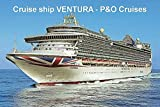 CRUISE SHIP FRIDGE MAGNET - VENTURA - P&O CRUISES