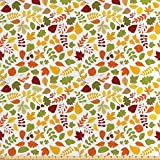 ABAKUHAUS Eichel Stoff als Meterware, Herbst gefallenes
