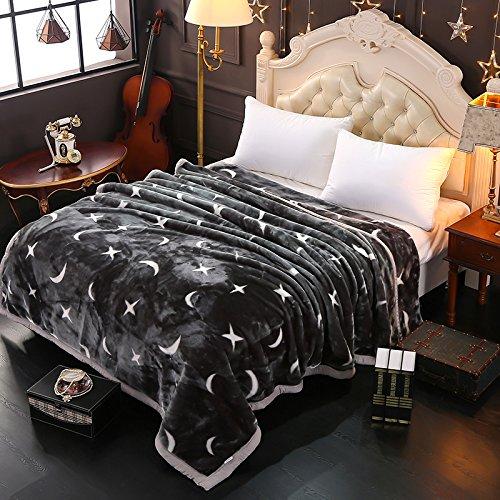 Doppelt dick Decke Decke doppelt dicke warme Einzelzimmer Doppelzimmer winter Decke rmal Decke Bettdecken, 150cmx200cm 5 lbs, Sterne und Mond (Sterne Und Mond Bettdecke)