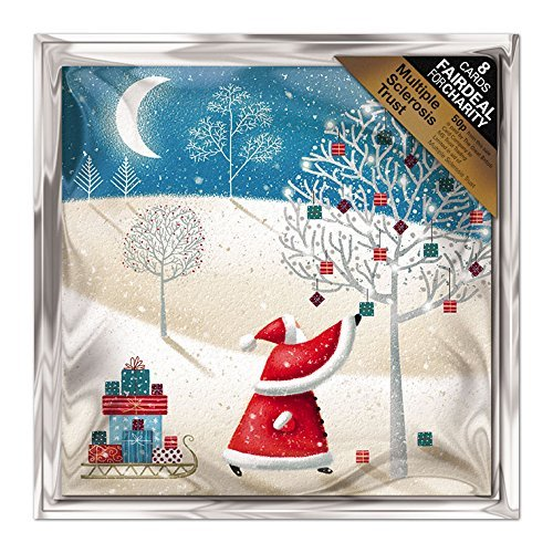 Almanac Gallery ALM7588 - Confezione di 8 biglietti di Natale, per sostenere la fondazione sclerosi multipla