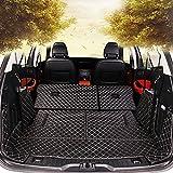 FFZ Parts Kofferraummatte Kofferraumwanne Kofferraumdecke Kofferaumschutzmatte Schutzmatte XPE Leder Für Golf 7 GTI GTD R GTE Club Sport Leder Schwarz Faden Rot
