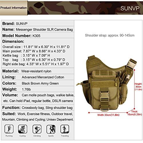 Imagen de louvra riñonera  de cintura bandolera cinturón riñonera táctical molle militar bandolera para camping, trekking, senderismo, etc, color marrón alternativa