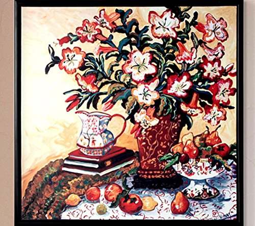 XYXY Murales di tavolo Art Déco soggiorno camera cucina della pittura a olio famiglia americana . 60*60 . b