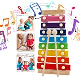 WELLXUNK Instruments de Musique en Xylophone,Jouet Xylophone Musique,Un Grand Jouet Musical pour Les Enfants- Parfait pour Le