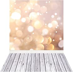 Andoer 1.5 * 2m Photography Background Backdrop Digital Printing Fantasy Light Spot Wooden Floor Pattern for Photo Studio