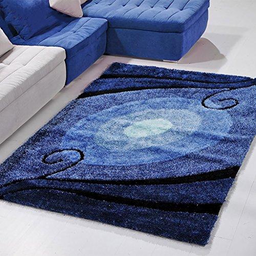 William 337 Hochwertiger mediterraner Teppich Wohnzimmer Teppich Schlafzimmer Teppich Steigung Blau Sofa Kaffeematte (größe : 120×170cm) -