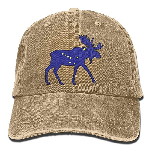 1642bde0 Sports Denim Cap Alaska Flag Moose Men Women Snapback Caps Polo Style Low  Profile
