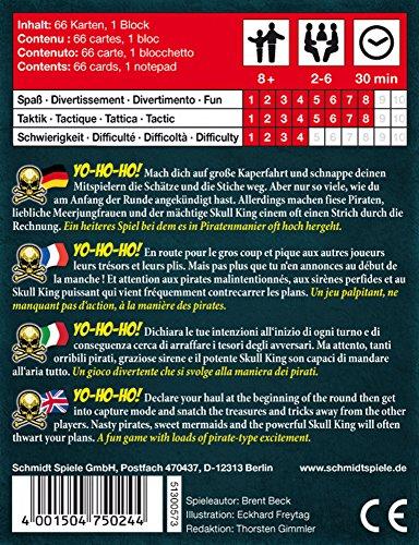 Kartenspiel 3 bis 6 Spieler Schmidt Spiele Skull King Familienkartenspiel