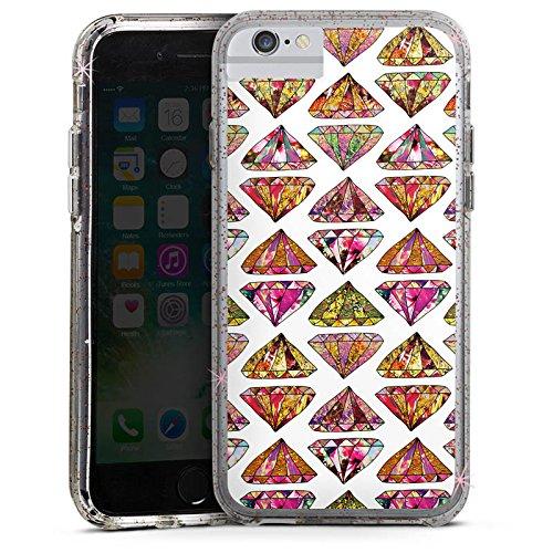Apple iPhone X Bumper Hülle Bumper Case Glitzer Hülle Triangle Dreieck Diamond Bumper Case Glitzer rose gold