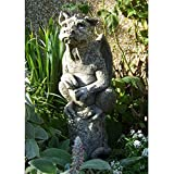 Vidroflor Gartenfigur | Drache AMBROSE | H: 66 cm | 30 kg | aus massivem Steinguss