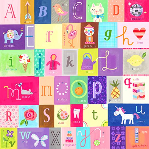 happy-spaces-stampa-su-tela-per-la-cameretta-alphabet-for-girls-by-jill-mcdonald-54-x-54-x-2-cm-mult
