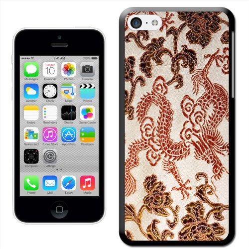 Fancy A Snuggle 'Seide Drachen' Hard Case Clip On Back Cover für Apple iPhone 5 C