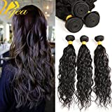 Ugeat Bouncy Wavy komplette Kopf Virgin Brasilianisch Echthaar Tressen 16, 18, 20 zoll/40,45,50cm Sew-in Weaving Extensions 300g