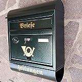 Großer Briefkasten / Postkasten XXL Grün mit Zeitungsrolle Runddach