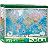 Eurographics Map of the World Puzzle (2000 Pieces)