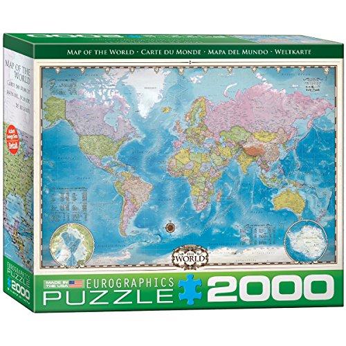 er Welt Puzzle (2000Teile) (Karte Puzzle)