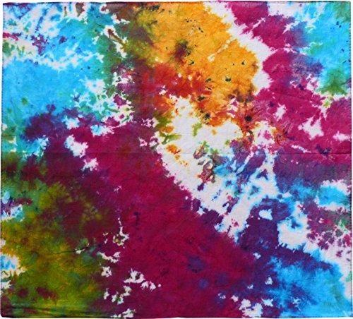 Harrys-Collection Damen Herren Baumwolltuch in vielen Farben 100 x 100 cm, Größen:Einheitsgröße, Farben:Batik gemustert