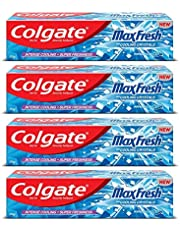 Colgate Max Fresh Anti-Cavity Toothpaste, Peppermint Ice, 150gm (Pack of 4)