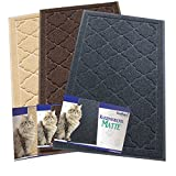 Easyology Premium Cat Litter Mat - XL Super Size - Extra Large Scatter Control Kitty Litter Mats for Cats Tracking Litter Out of Their Box - Soft on Paws- Elegant for Your Home- (Patent Pending) by Easyology