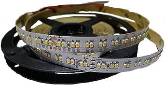 CCT LED Strip 24v 5m Profi Lichtband Rolle inkl. Ratgeber | selbstklebend dimmbar warmweiss kaltweiss neutralweiss | Lebensdauer 30.000 Stunden | 6500 Kelvin | 240 SMD LEDs pro Meter | Chipsatz 2216