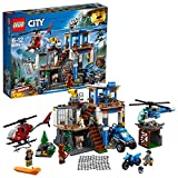 LEGO 60174 City Police Mountain Headquarters Building Set, Toy Helicopter and 4 x 4 Car, Police Toys for Kids