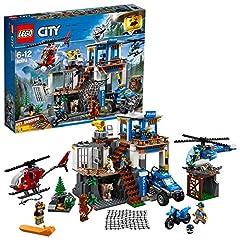 Idea Regalo - Lego City Police-Quartier Generale della Polizia di Montagna,, 60174