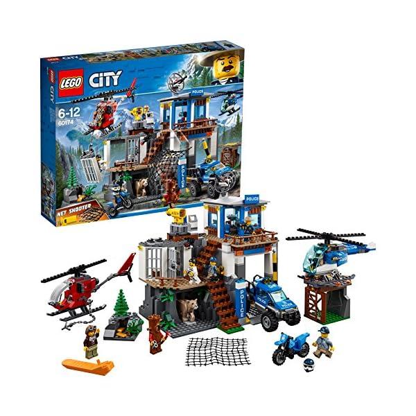 LEGO- City PoliceQuartier Generale della Polizia di Montagna, Multicolore, 60174 1 spesavip