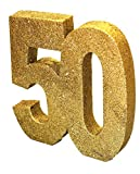 Gold Glitter Number Table Decoration '50'