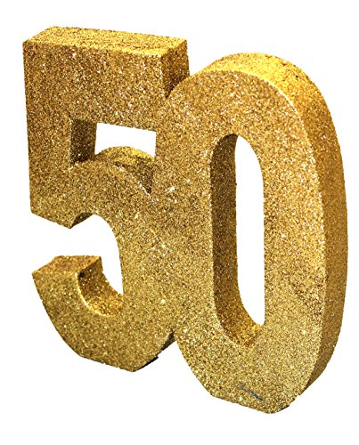 Generique - Tisch-Dekoration - Zahl 50 - Gold