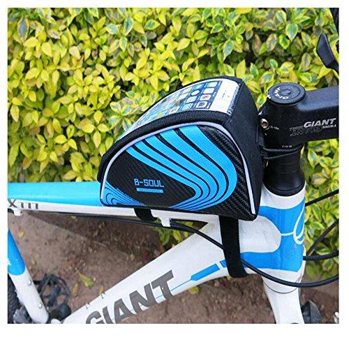 hysung Tasche Mountain Bike Fahrrad Obere Schlauch Touchscreen Handy Tasche Beam Sattel Bike Reiten Ausrüstung Blau