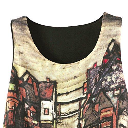 ROPALIA Femmes Mini Robe de Soirée Bohême Robe de Plage Floral d'été. Coloré