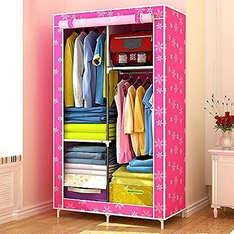 WJP modernos armarios simplificada de tela de refuerzo de bricolaje armario ropero W-109