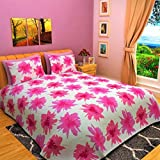 BOMBAY DYEING Eternia 220 TC Cotton Bedsheet with 2 Pillow Covers, King Size