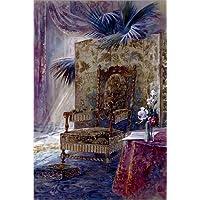 Póster 60 x 90 cm: Interior with a padded chair de French School / Bridgeman Images - impresión artística de alta calidad, nuevo póster artístico