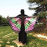 Frau Schal Kolylong® Frauen 147 * 70CM Chiffon weichen Stoff Schmetterling Flügel Schal Kostüm Zu (Rosa) -