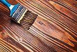 5L Farbige Dekor Lasur in Farblos, Birke, Kiefer, Pinie, Lärche, Eiche, Teak, Kastanie, Nußbaum, Mahagoni, Palisander, Silbergrau oder Ebenholz seidenglänzend Wetterbeständig für innen und außen | BEKATEQ Holzschutzlasur deckend Holzschutzmittel Lasieren Holzlasur Streichen Holz Streichen Holz Tür Fenster Möbel Lasieren Holzöl farbig (Farblos)